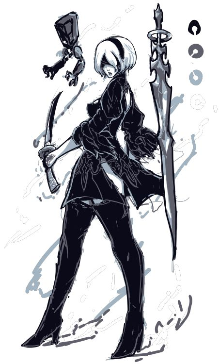 Character Design Nier Automata : Images about nier automata on pinterest cutout