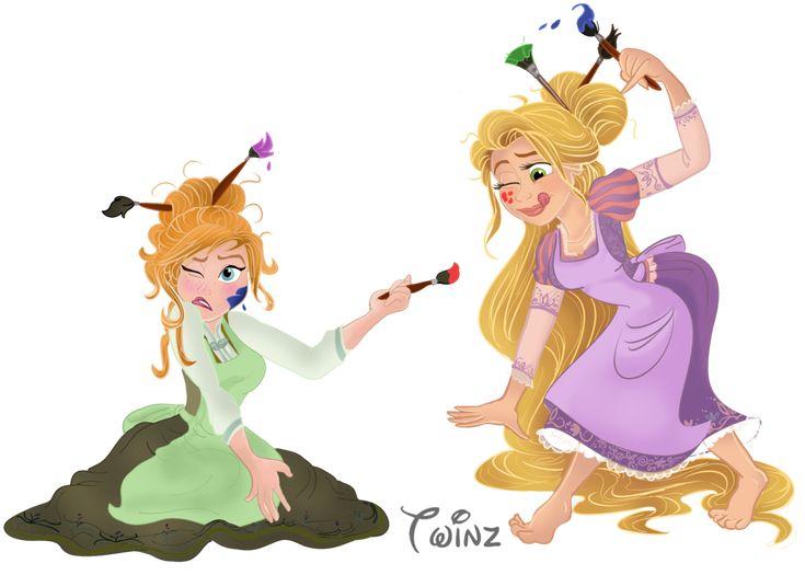 Art Time! - Rapunzel And Anna by Pussycat-Puppy on deviantART