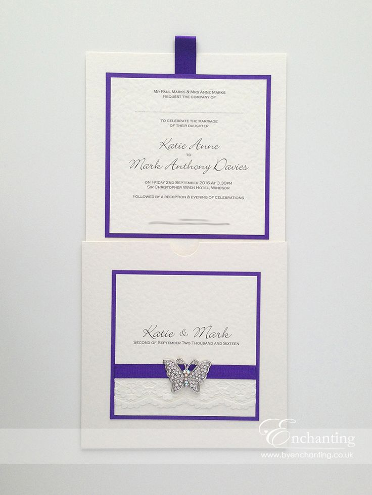 ivory and cadbury purple wedding invitations - 28 images - sweet ...