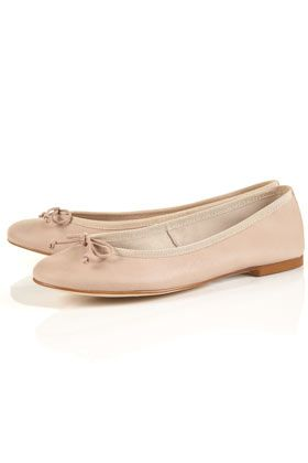 TOPSHOP KOKO Soft Leather Ballet Pumps
