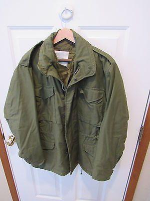 US Army M-65 Vintage Military Field Jacket sz MEDIUM REGULAR LINER  ALPHA VGC