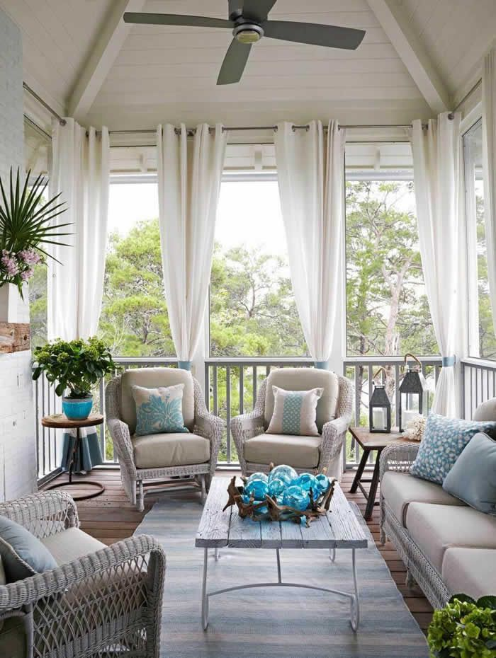 Outdoor Decor: 12 Amazing Curtain Ideas For Porch And Patios