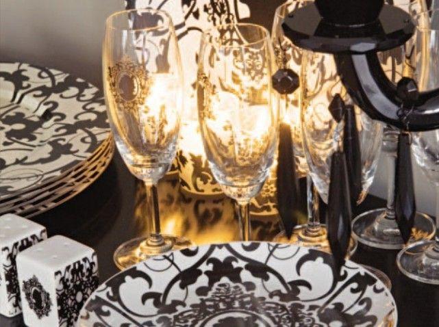 décoration de table  Mariage baroque  Pinterest