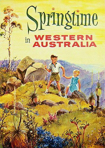1950s Australian travel poster