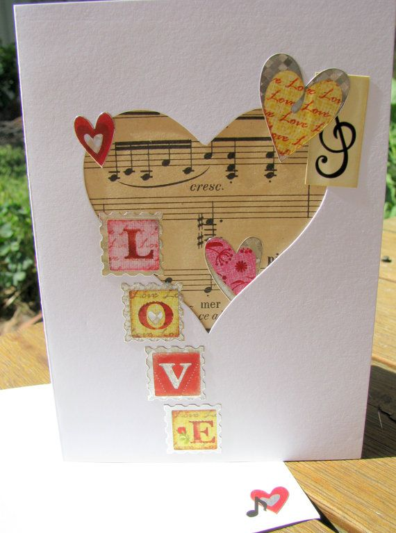 Love Song  Handmade Card  valentines day by RogueKissedCraft