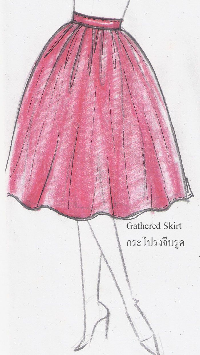 drawing+skirt | Drawing Skirt | Fashion Drawing for beginners