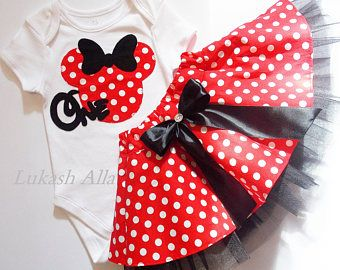 Vestido rojo Minnie ratón Minnie Mouse cumpleaños Tutu traje Minnie Mouse Minnie Mouse cumpleaños traje Minnie Mouse tutu de Minnie Mouse Minnie