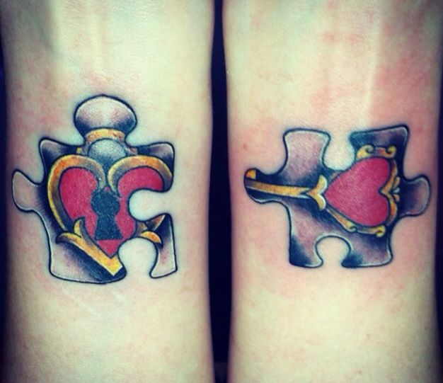 heart and lock puzzle piece tattoo art pinterest locks coolers and puzzle pieces. Black Bedroom Furniture Sets. Home Design Ideas