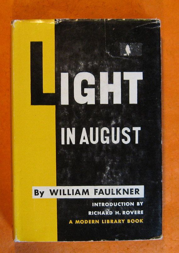 Light In August by William Faulkner by Pistilbooks on Etsy