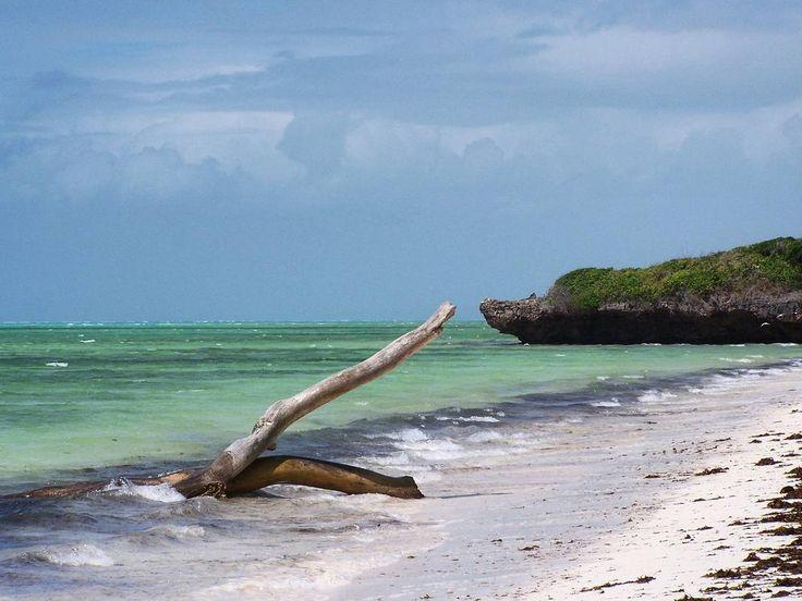 Crystal clear water and beautiful white sandy beach  in Watamu Kenya.