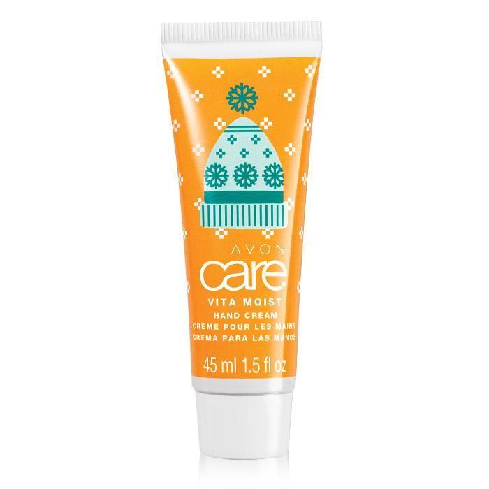 Avon's 2016 Avon Care Vita Moist Holiday Hand Cream is an adorable mini hand cream for on the go this holiday season. Fun holiday pattern. Regularly $2.49, shop Avon Bath & Body online at http://eseagren.avonrepresentative.com