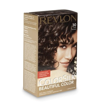 Best Color for Brunette Hair  Winner:  Revlon ColorSilk ($3.69) in Dark Brown earned perfect scores on our tests. It covered grays completely; dyed hair retained its shine and didn't fade. The least expensive of the kits we tested, no-frills ColorSilk includes only enough conditioner for one application.