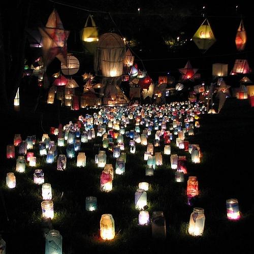 annual lantern festival in Victoria Park, St. John's, newfoundland, canada