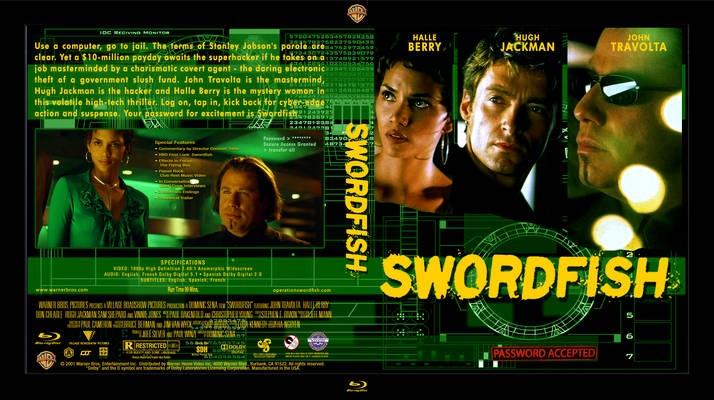 Swordfish (2001; thriller) - John Travolta, Hugh Jackman, Halle Berry, Vinnie Jones
