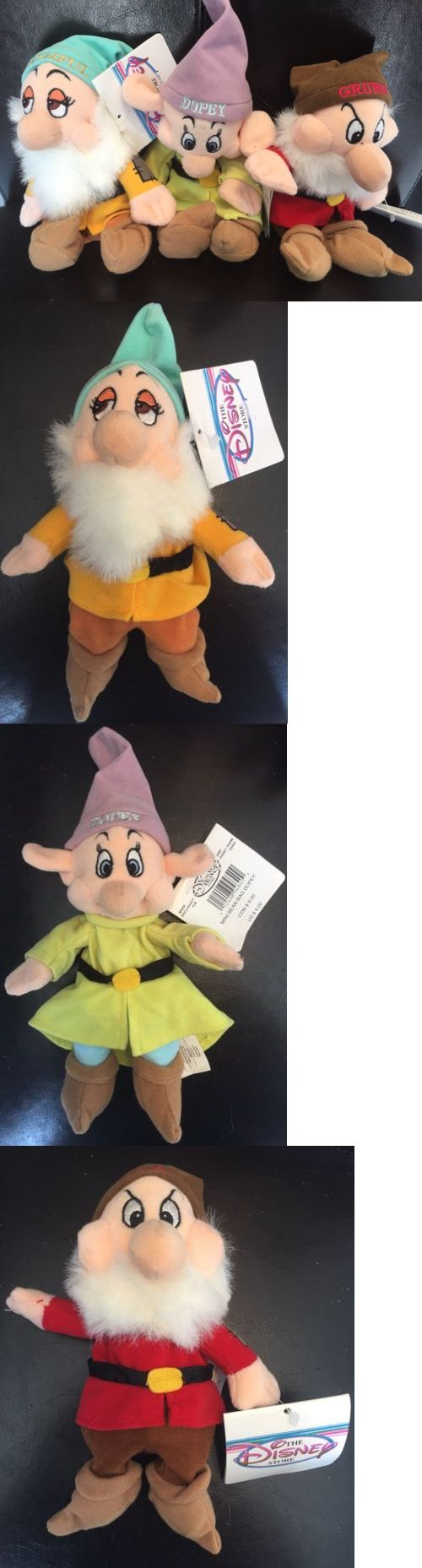 Snow White 19222: Disney Store Snow White And Seven Dwarfs Bean Bag Plush Lot Grumpy Dopey Bashful -> BUY IT NOW ONLY: $30 on eBay!