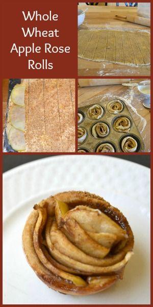 Whole Wheat Apple Rose Rolls Recipe — The Greenbacks Gal