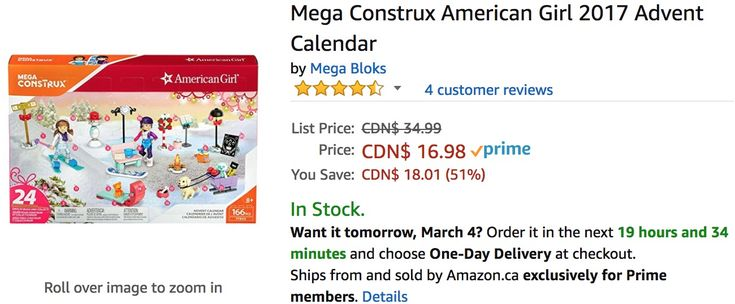 Amazon Canada Deals: Save 51% on Mega Construx American Girl Advent Calendar & 32% on KidCo Bath Toy Organizer S... https://www.lavahotdeals.com/ca/cheap/amazon-canada-deals-save-51-mega-construx-american/312986?utm_source=pinterest&utm_medium=rss&utm_campaign=at_lavahotdeals&utm_term=hottest_12