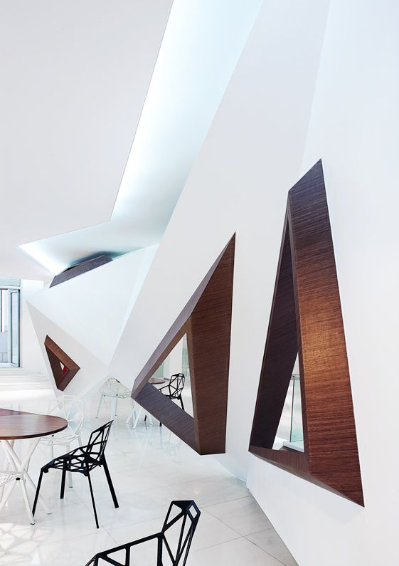 Arthouse Café, Hangzhou  – loving this spiky geometric interior must see!  / We Heart It