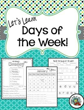 Days of the week! Ideal for sped students still working on calendar skills. No clipart that is age inappropriate. :) My older kids really need this!