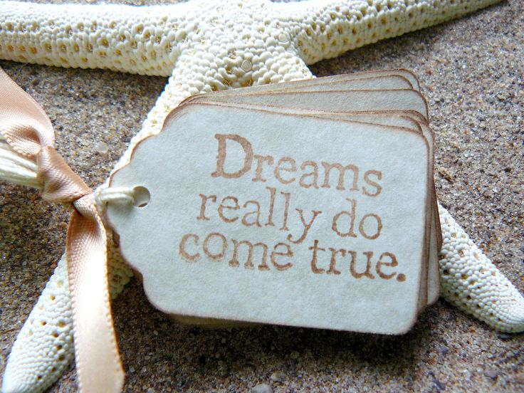 Vintage Gift Tags - Dreams Do Come True - Vintage Wedding Favors, Bridal Shower Favors - Fairytale - Antique Parchment -Set of 25. $13.75, via Etsy.