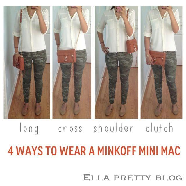 4 ways to wear a Rebecca Minkoff Mini MAC