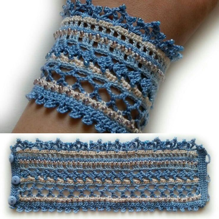 #crochet #crochetbracelet #crochetjewelry #crochetaccessories