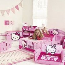 Voor de Hello Kitty fans een kamer met het thema Hello Kitty.