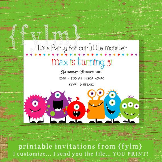 online printable party invitations
