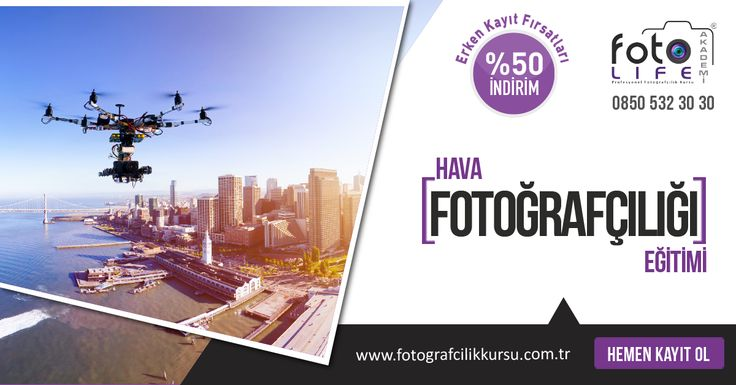 Profesyonel hava fotoğrafçısı olmak, mimari yapıları, şehirleri ve manzaraları havadan görüntülemek isteyenler için kaçırılmayacak bir eğitim… Erken kayıtta Hava Fotoğrafçılığı Kursu %50 indirimli! http://www.fotografcilikkursu.com.tr/hava-fotografciligi-kursu-kampanyasi/  #havafotoğrafçılığıkursukampanyası #fotoğrafçılıkkursukampanyası #fotoğrafçılıkkursu