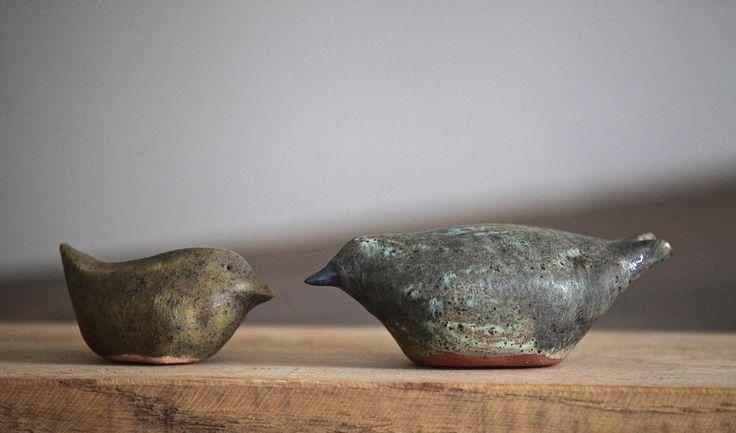 Seramik kuşlar (2'li set) - kutludan seramik