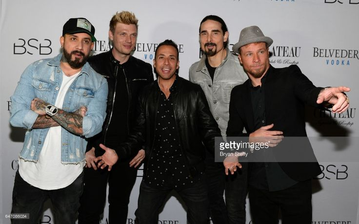 Singers A.J. McLean, Nick Carter, Howie Dorough, Kevin Richardson and Brian Littrell of the Backstreet Boys attend the after party of the debut of the group's residency 'Larger Than Life' at the Chateau Nightclub & Rooftop at the Paris Las Vegas on March 2, 2017 in Las Vegas, Nevada.