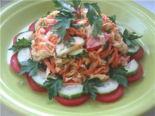 """Салат овощной с морковью-по корейски """"Экспромт"""""""