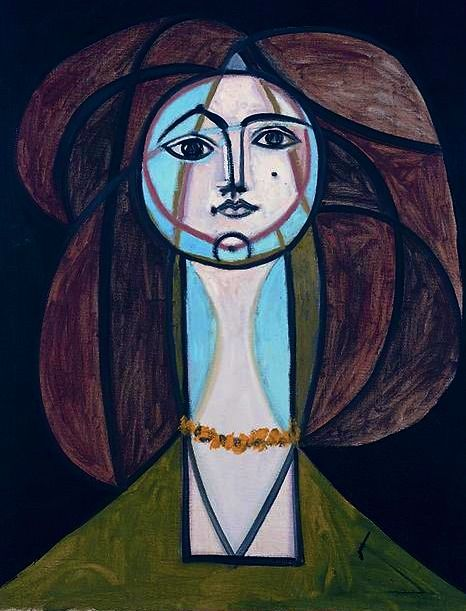 Femme au Collier Jaune, (Woman with a yellow necklace) Pablo Picasso