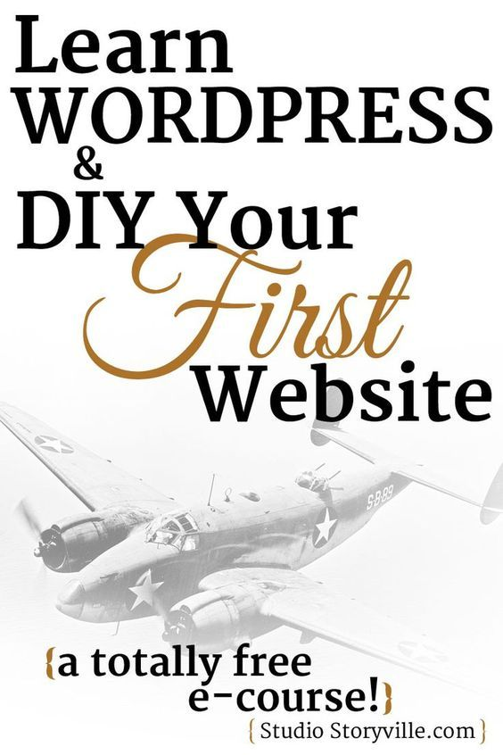Learn how to DIY your first WordPress website with this free email course.: