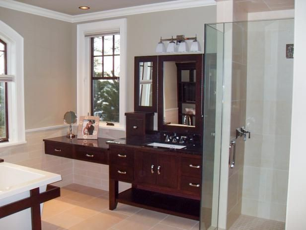 Recycled Glass Shower Niche in Contemporary Bathroom : Designers' Portfolio : HGTV - Home & Garden Television