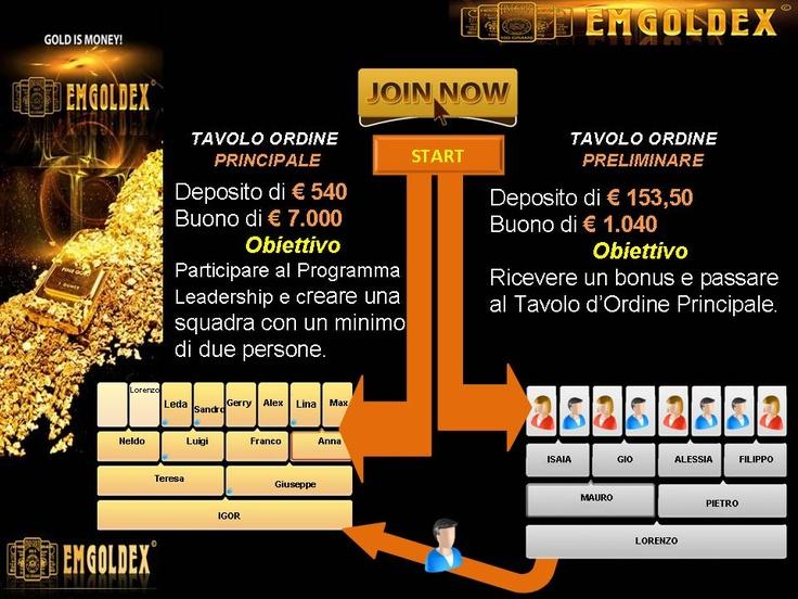 Il Network a Rischio Zero  www.emgoldex.it