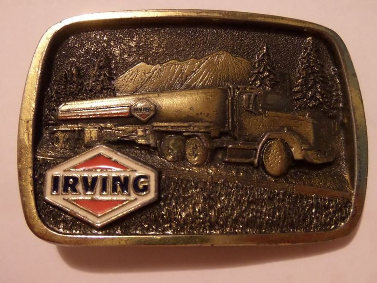 RARE VINTAGE IRVING OIL CORPORATION BELT BUCKLE FREE SHIPPING  #GreatAmericanBuckleCompany