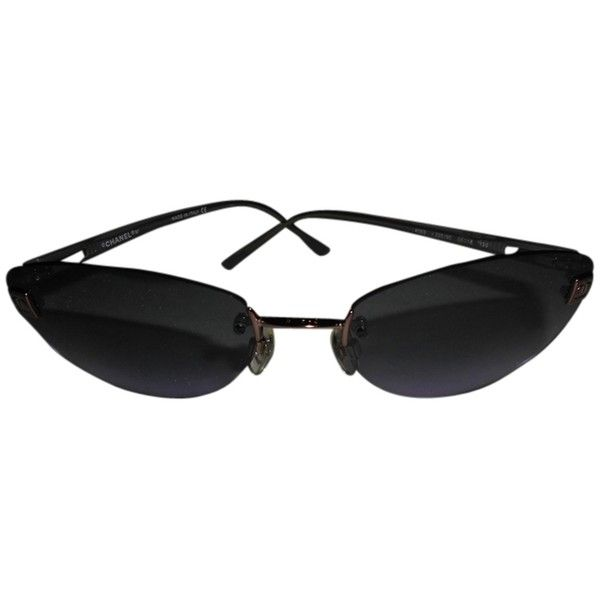chanel glasses. pre-owned chanel sunglasses 4069 (£135) ❤ liked on polyvore featuring accessories glasses