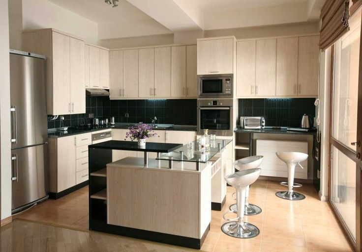 Kitchen tiles black with granite countertop integrated kitchen island which has glass tops