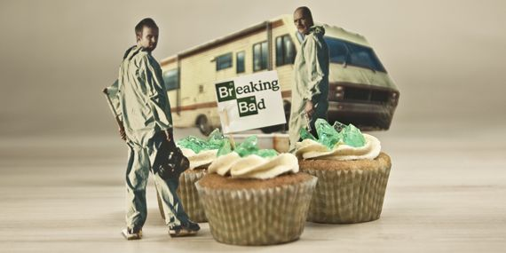 Breaking Bad Cupcakes mit Crystal Meth Candy