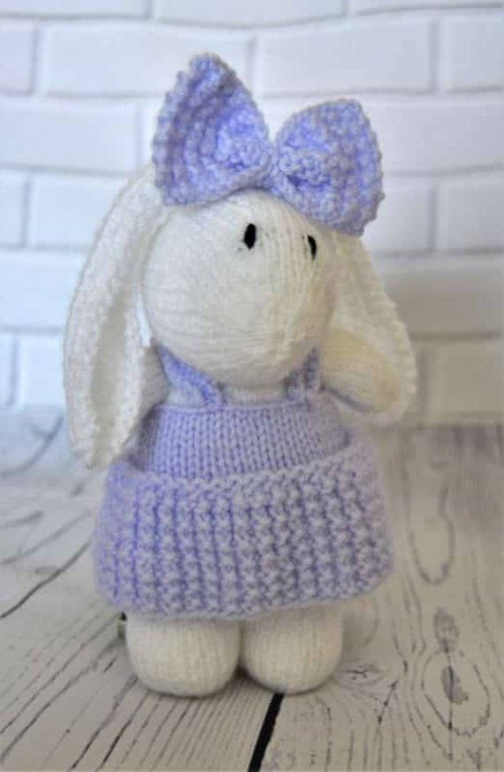 55bcbe3eb959ba KNITTING PATTERN - Muffin the Rabbit Soft Toy Knitting Pattern Download  From Knitting by Post by
