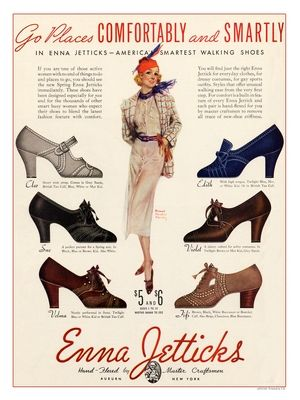 1930s Enna Jetticks Shoe ad
