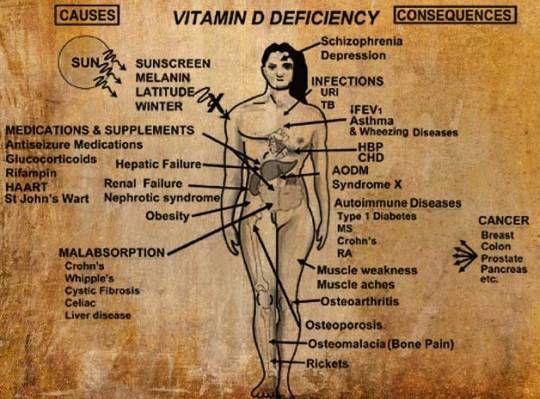 La carenza di vitamina D è davvero diffusissima per il fatto che non passiamo abbastanza tempo all'aria aperta come succedeva una volta.I ricercatori stim