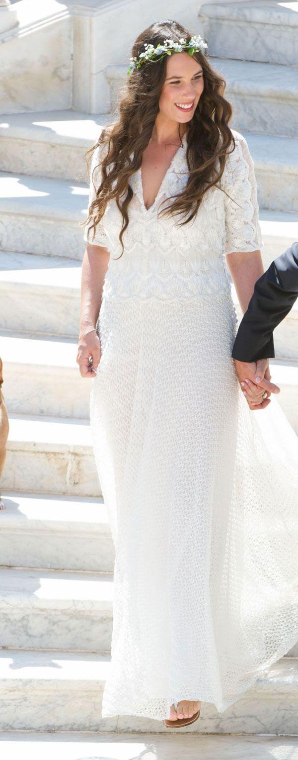 La señorita Tatiana Santo Domingo el día de su boda con el señor Andrea Casiraghi de Mónaco, el 31 de agosto de 2013.