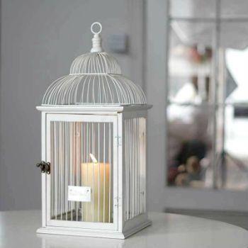 Оригинальное решение-клетка для птиц в качестве подсвечника!