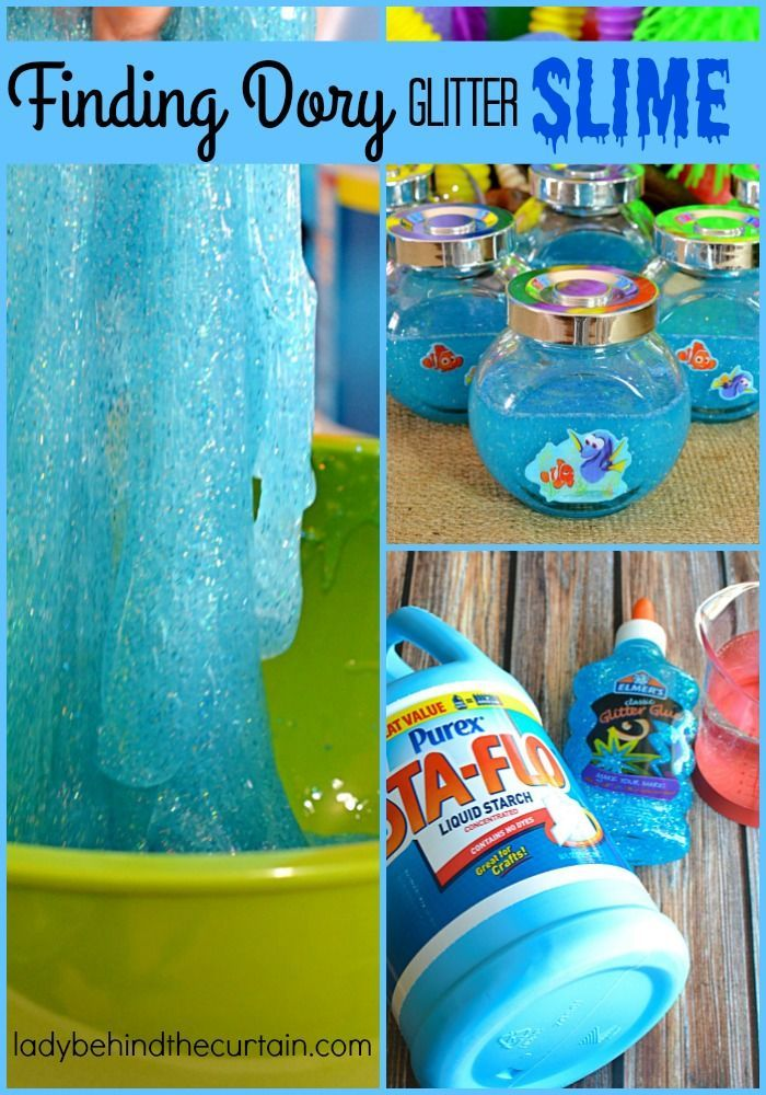How To Make Finding Dory Glitter Slime Recipe Slime