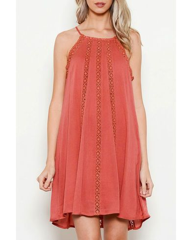 Illa Illa Women's Sleeveless Dress with Lace Detail - Country Outfitter