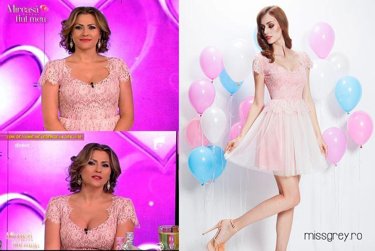 Short elegant dress to wear at the wedding. Lovely Mirela loves it, for sure: https://missgrey.ro/ro/vara/rochie-albertina/321?utm_campaign=colectie_mai&utm_medium=rochie_albertina&utm_source=pinterest-produs