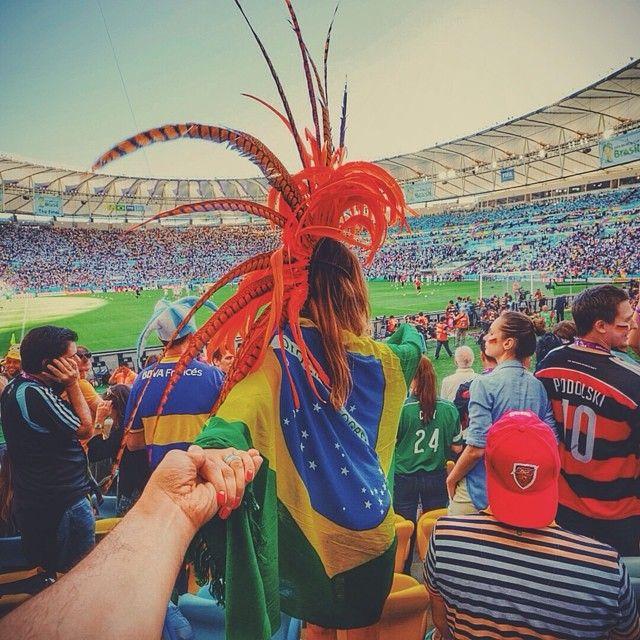 #followmeto the Maracana stadium with @yourleo. FIFA World Cup 2014 - let the battle begin :)