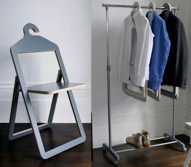 Складной стул-вешалка